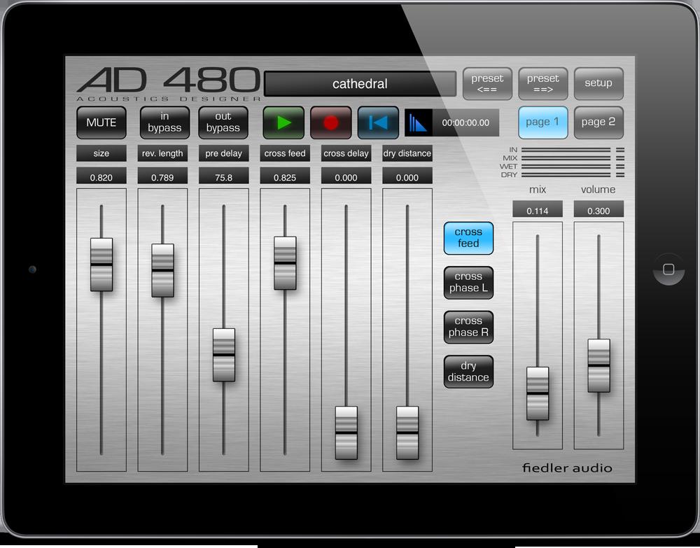 AD 480 Pro auf dem iPad